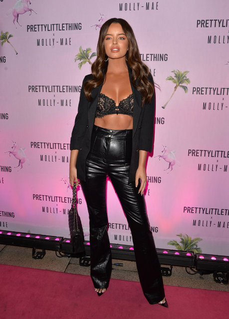 Maura Higgins attends the Pretty Little Thing X Molly-Mae party at Rosso on September 01, 2019 in Manchester, England. (Photo by Splash News and Pictures)