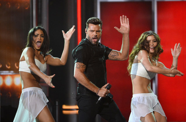 Ricky Martin performs onstage during the 2014 Billboard Music Awards held at MGM Grand Garden Arena on May 18, 2014 in Las Vegas, Nevada. (Photo by Michael Tran/FilmMagic)