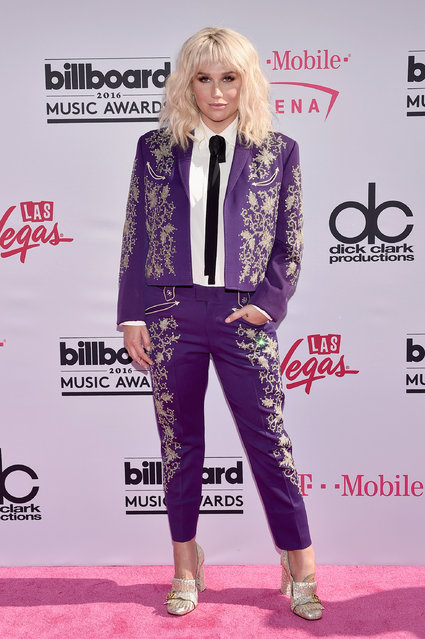 Singer Kesha attends the 2016 Billboard Music Awards at T-Mobile Arena on May 22, 2016 in Las Vegas, Nevada. (Photo by David Becker/Getty Images)