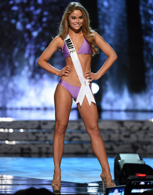 Miss Maine USA Marisa Butler competes in the swimsuit competition during the 2016 Miss USA pageant preliminary competition at T-Mobile Arena on June 1, 2016 in Las Vegas, Nevada. (Photo by Ethan Miller/Getty Images)