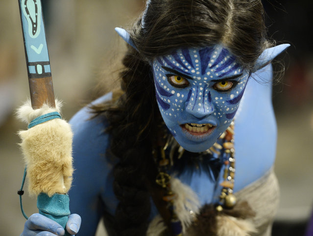 "Brittany Ching dressed as a character from the sci-film ""Avatar"" at the annual Denver Comic Con at the Colorado Convention Center on June 16, 2016. (Photo by AndyCross/The Denver Post)"