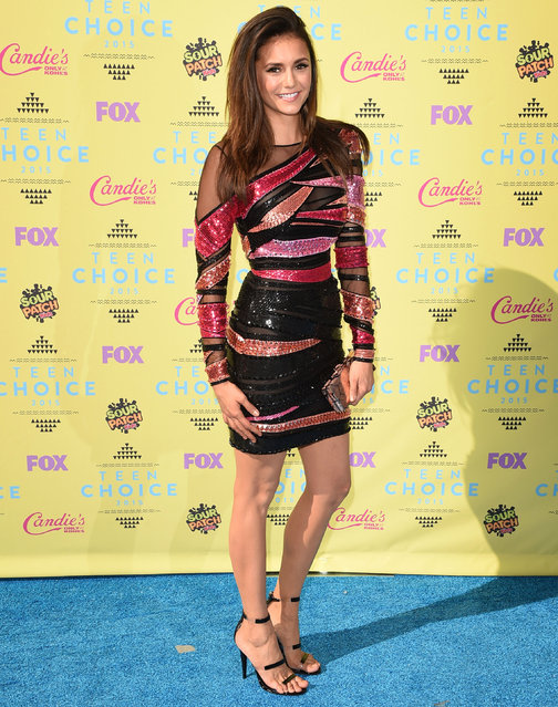 Actress Nina Dobrev attends the Teen Choice Awards 2015 at the USC Galen Center on August 16, 2015 in Los Angeles, California. (Photo by Jason Merritt/Getty Images)