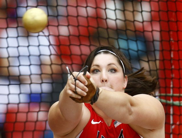 DeAnna Price of the U.S. competes in the women's hammer throw qualifying round during the 15th IAAF World Championships at the National Stadium in Beijing, China, August 26, 2015. (Photo by Kai Pfaffenbach/Reuters)