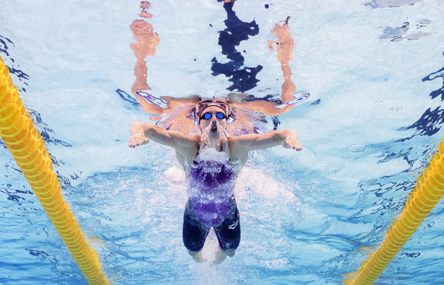 Katinka Hosszu of Hungary on her way to gold in the Women's 400m Medley heats at Europa-Sportpark on August 18, 2014 in Berlin, Germany. (Photo by Adam Pretty/Bongarts/Getty Images)