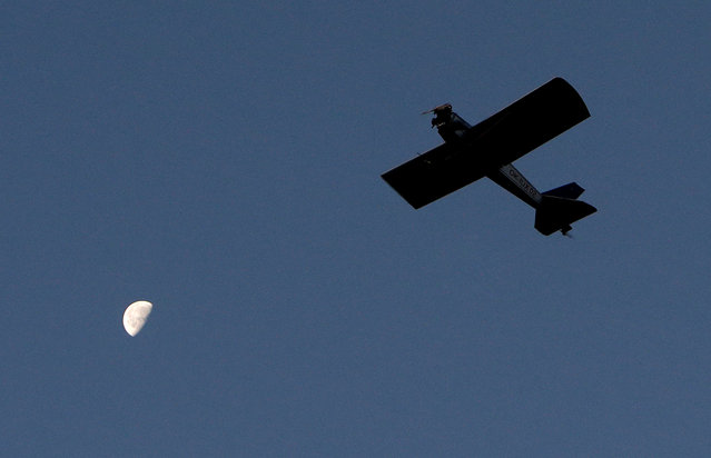 Aviator Frantisek Hadrava pilots Vampira, an ultralight plane based on the U.S.-design of light planes called Mini-Max, near the town of Ckyne, Czech Republic, August 24, 2016. (Photo by David W. Cerny/Reuters)