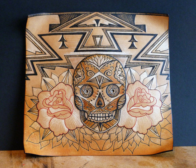 Tattooed Leather Art By Punctured Artefact