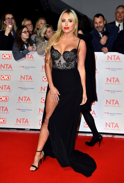 Amber Turner attends the National Television Awards 2018 at the O2 Arena on January 23, 2018 in London, England. (Photo by PA Wire)