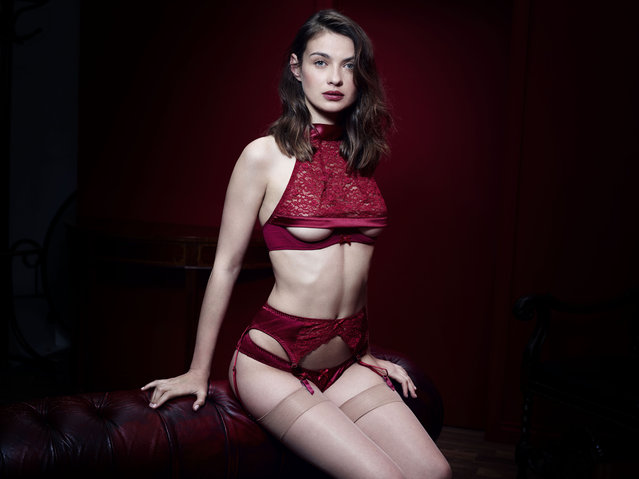 "Fifty Shades Darker lingerie by Coco de Mer – capturing the ""inner goddess"" of Anastasia Steele – is launched following record-breaking release of movie's new trailer. Official collection developed in conjunction with E.L. James to coincide with the new Fifty Shades Darker movie. They are the first official Fifty Shades Darker products to be released ahead of the new movie whose trailer was watched 114 million times in first 24 hours, breaking Star Wars: The Force Awakens previous record. (Photo by Rankin/Coco de Mer/Rex Shutterstock)"