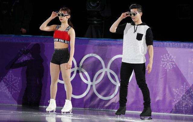 Pair skaters Kyu- eun Kim and Alex Kang- chan Kam of South Korea perform during a figure skating exhibition gala at the 2018 Winter Olympic Games at Gangneung Ice Arena in Gangneung, South Korea on February 25, 2018. (Photo by John Sibley/Reuters)