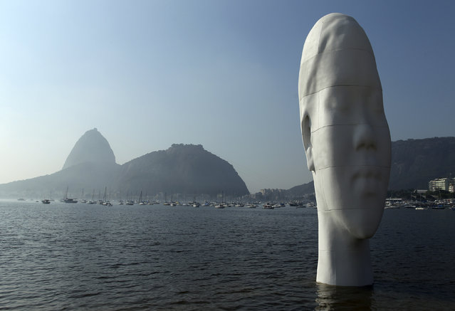 "A sculpture named ""Awilda"" is pictured at the shore of the Botafogo beach in Rio de Janeiro, September 3, 2012. (Photo by Pilar Olivares/Reuters)"