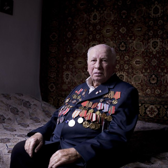 In this photo made Friday, April 12, 2013, Soviet Jewish World War veteran Matvey Gershman, 90, poses for a portrait at his house in the southern Israeli city of Ashkelon. Gershman joined the Red Army's air force in 1941. Later, he was transferred to the 5th Shock Army, and fought mostly in Ukraine, after which he joined the 8th Guard Army and took part in the Battle of Berlin, including the famous battle for the Reichstag. Gershman immigrated to Israel from Gomel, today's Belorussia, in 1990. About 500,000 Soviet Jews served in the Red Army during World War Two, and the majority of those still alive today live in Israel. (Photo by Oded Balilty/AP Photo)