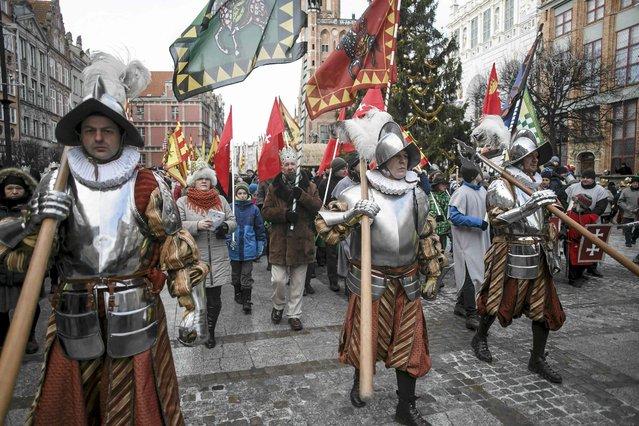 People take part in a traditional Roman Catholic Three Kings Day procession in Gdansk January 6, 2015. (Photo by Lukasz Glowala/Reuters/Agencja Gazeta)