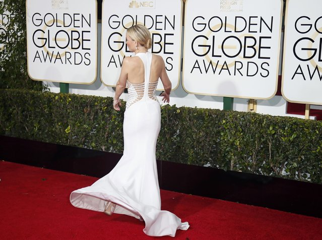 Actress Kate Hudson arrives at the 72nd Golden Globe Awards in Beverly Hills, California January 11, 2015. (Photo by Danny Moloshok/Reuters)
