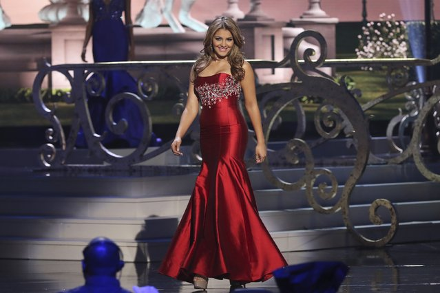 Miss Venezuela Migbelis Lynette Castellanos onstage during The 63rd Annual Miss Universe Pageant at Florida International University on January 25, 2015 in Miami, Florida. (Photo by Alexander Tamargo/Getty Images)
