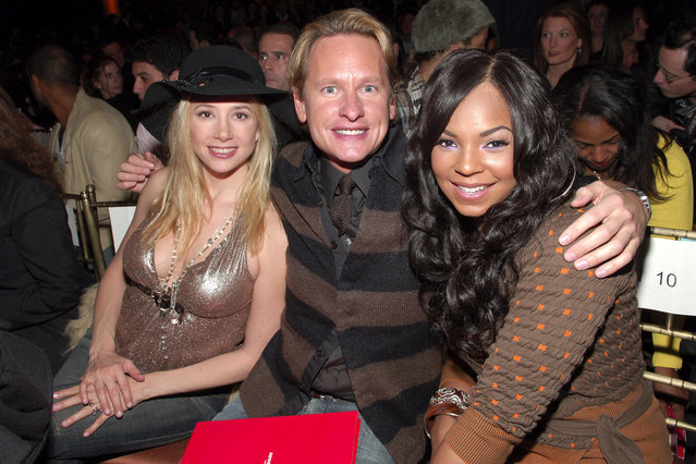 Mira Sorvino, Carson Kressley and Ashanti during Olympus Fashion Week Fall 2006 – Miss Sixty – Front Row and Arrivals at Capitale in New York City, New York, United States. (Photo by Michael Loccisano/FilmMagic)