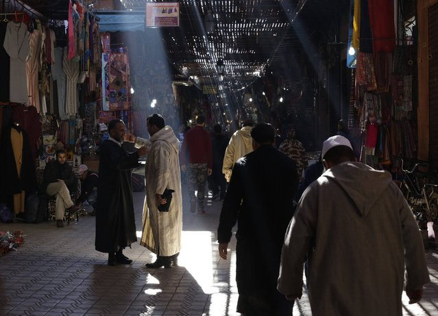 A view of an alley of a traditional souk in the old Medina of Marrakesh December 19, 2014. (Photo by Youssef Boudlal/Reuters)