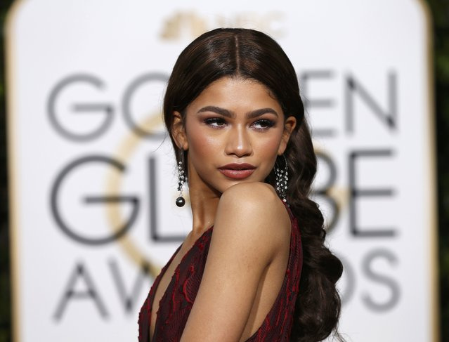 Zendaya arrives at the 73rd Golden Globe Awards in Beverly Hills, California January 10, 2016. (Photo by Mario Anzuoni/Reuters)