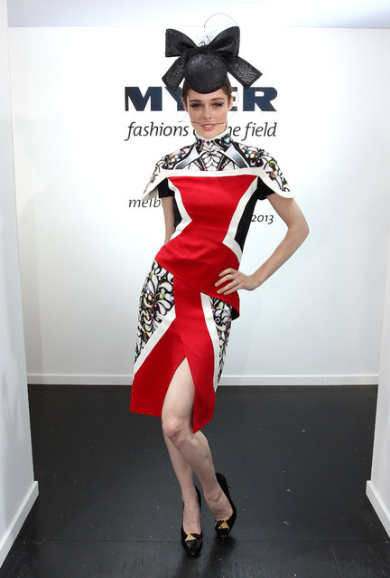 Model Coco Rocha poses during Melbourne Cup Day at Flemington Racecourse on November 5, 2013 in Melbourne, Australia. (Photo by Lisa Maree Williams/Getty Images for the VRC)