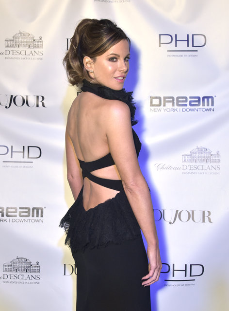 Kate Beckinsale attends DuJour Cover Star Kate Beckinsale Celebrates Spring Issue With CEO And Founder Jason Binn Presented by Paul Chevalier of Whispering Angel at PhD (Dream Downtown Hotel Rooftop) on February 28, 2019 in New York City. (Photo by Eugene Gologursky/Getty Images for DuJour Media)