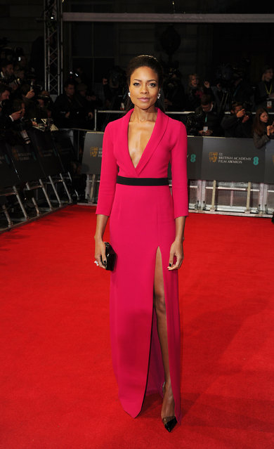 British Academy Film Awards Arrivals at The Royal Opera House, London. Naomie Harris. (Photo by Splash News and Pictures)