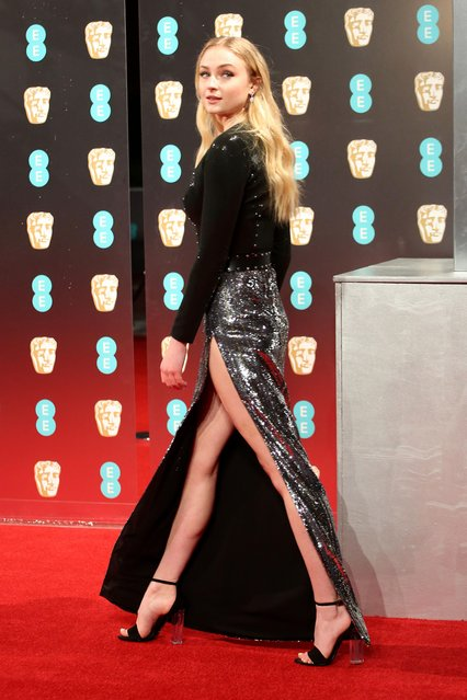 Sophie Turner attends the 70th EE British Academy Film Awards (BAFTA) at Royal Albert Hall on February 12, 2017 in London, England. (Photo by Matt Baron/Rex Features/Shutterstock)