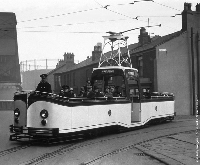 A Blackpool single decker tram, 1934