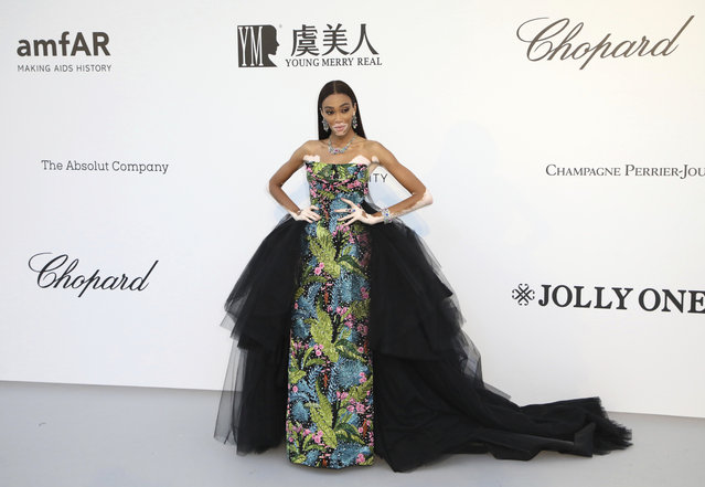 Model Winnie Harlow poses for photographers upon arrival at the amfAR, Cinema Against AIDS, benefit at the Hotel du Cap-Eden-Roc, during the 72nd international Cannes film festival, in Cap d'Antibes, southern France, Thursday, May 23, 2019. (Photo by Vianney Le Caer/Invision/AP Photo)