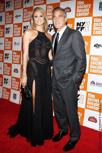 Stacy Keibler and actor George Clooney
