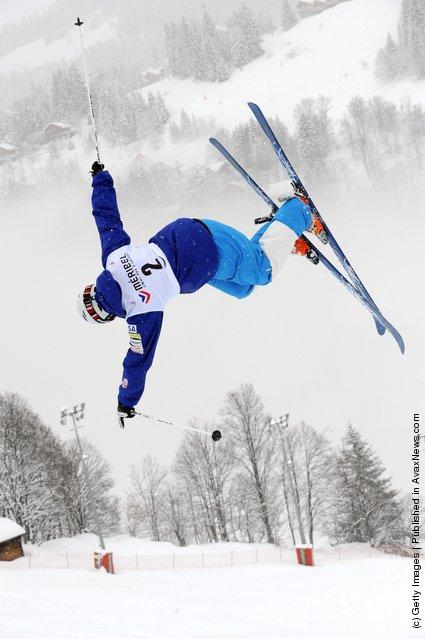 Sho Kashima of USA during the FIS Freestyle Ski World Cup Dual Moguls