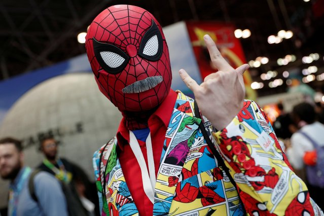 A person dressed up as Spider-Man attends the 2019 New York Comic Con in New York City, New York, U.S., October 3, 2019. (Photo by Shannon Stapleton/Reuters)
