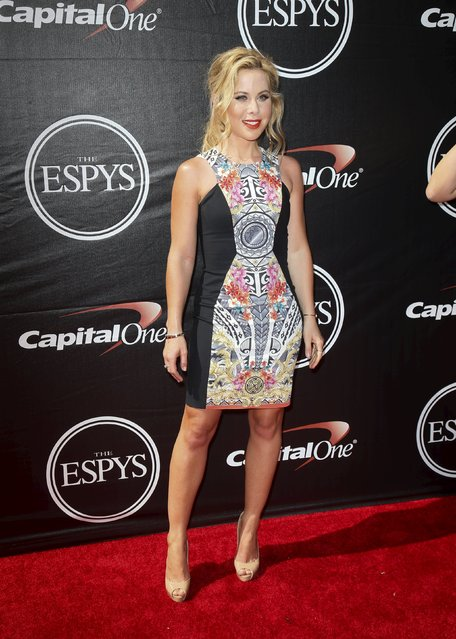 Figure skater Tara Lipinski arrives for the 2015 ESPY Awards in Los Angeles, California July 15, 2015. (Photo by Danny Moloshok/Reuters)