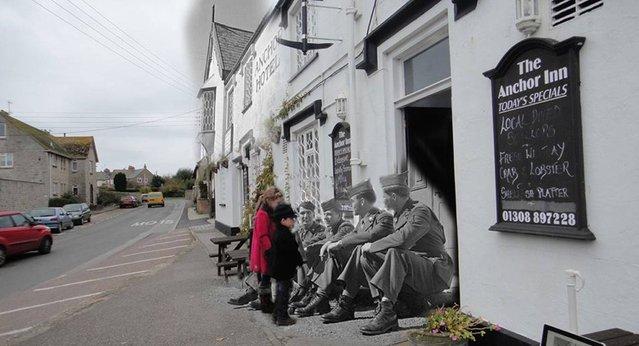 Yanks in the Dorset pub in Burton Bradstock. (Photo by Adam Surrey)