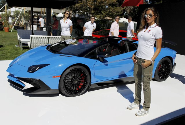The Aventador Superveloce Roadster supercar is displayed after Automobili Lamborghini President and Chief Executive Officer Stephan Winkelmann unveiled it during The Quail, A Motorsports Gathering car event in Carmel, California, August 14, 2015. (Photo by Michael Fiala/Reuters)
