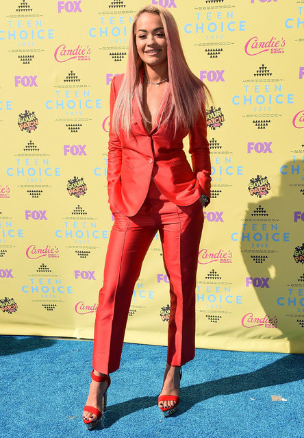 Actress/singer Rita Ora attends the Teen Choice Awards 2015 at the USC Galen Center on August 16, 2015 in Los Angeles, California. (Photo by Steve Granitz/WireImage)