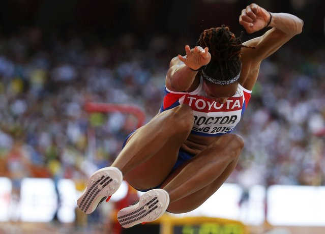 Shara Proctor of Britain competes in the long jump qualification event at the 15th IAAF World Championships at the National Stadium in Beijing, China, August 27, 2015. (Photo by Phil Noble/Reuters)
