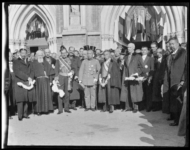 Victory Celebration, November 13, Diplomats etc. Baron Hayashi. China, Beijing, 1917-1919. (Photo by Sidney David Gamble)