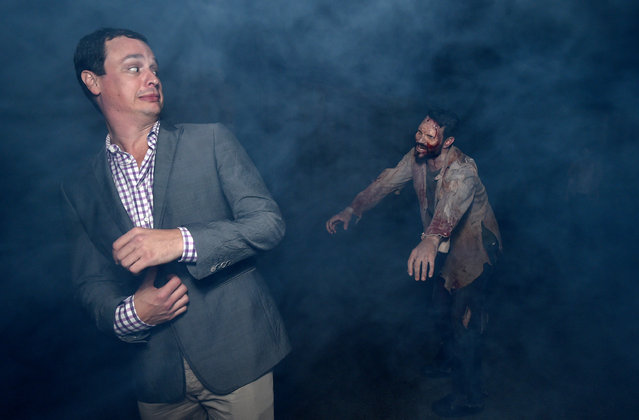 "Executive producer Dave Alpert attends the season five premiere of ""The Walking Dead"" at AMC Universal Citywalk on Thursday, October 2, 2014, in Universal City, Calif. (Photo by John Shearer/Invision for AMC/AP Images)"