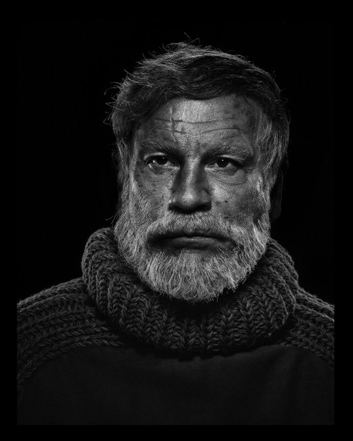 John Malkovich is seen as Ernest Hemingway in a re-creation of Yousef Karsh's 1957 portrait of the author. (Photo by Sandro Miller/Catherine Edelman Gallery)