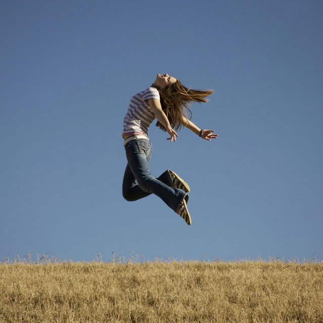 """""""Jumpology"""". """"We're free, we're free..."""". (Photo by Kristin)"""