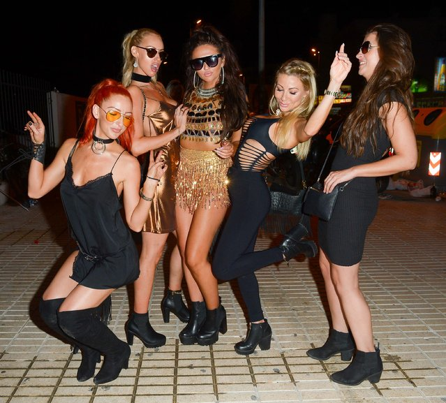 Ex On The Beach star Charlotte Dawson out on the town with friends on the party island Ibiza, Spain on October 3, 2016. (Photo by Jon Baxter/ICelebTV)
