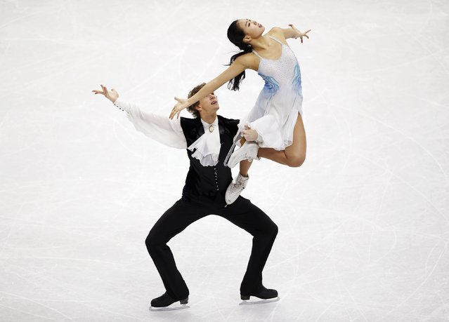 Rebeka Kim (top) and Kirill Minov of South Korea perform during the ice dance free dance program competition at the ISU Four Continents Figure Skating Championships in Seoul February 13, 2015. (Photo by Kim Hong-Ji/Reuters)