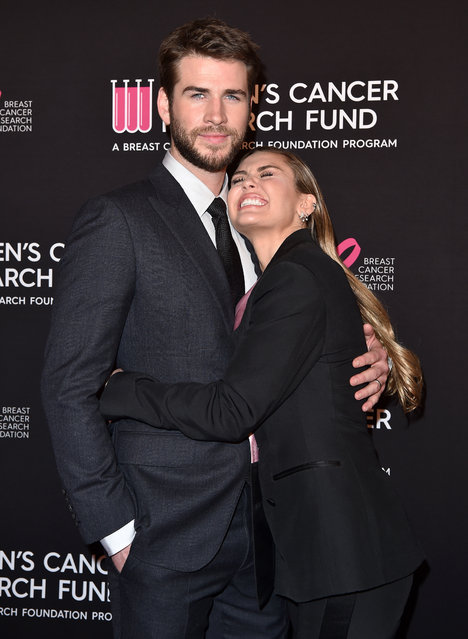 Liam Hemsworth and Miley Cyrus attend The Women's Cancer Research Fund's An Unforgettable Evening Benefit Gala at the Beverly Wilshire Four Seasons Hotel on February 28, 2019 in Beverly Hills, California. (Photo by Axelle/Bauer-Griffin/FilmMagic)