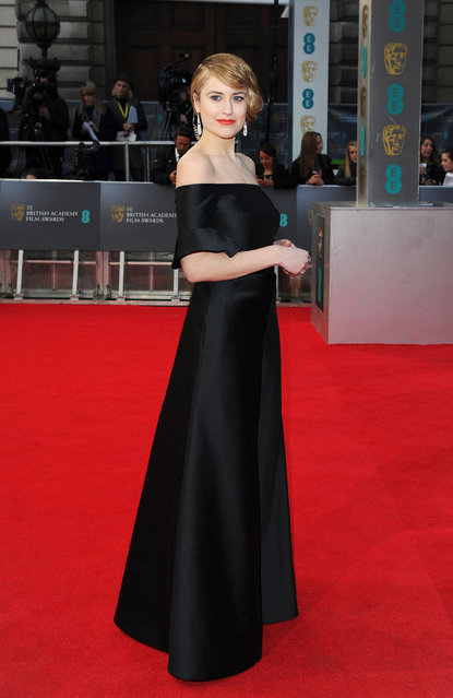 British Academy Film Awards Arrivals at The Royal Opera House, London. Antonia O'Brien. (Photo by Splash News and Pictures)