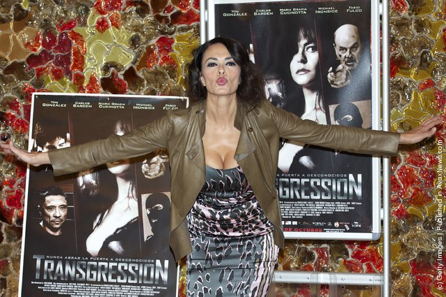 Italian actress Maria Grazia Cucinotta attends Transgression photocall