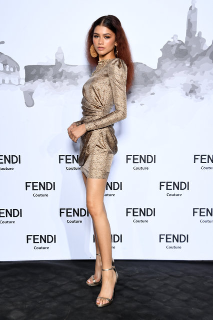 Zendaya attends the Cocktail at Fendi Couture Fall Winter 2019/2020 on July 04, 2019 in Rome, Italy. (Photo by Daniele Venturelli/Daniele Venturelli/ Getty Images for Fendi)
