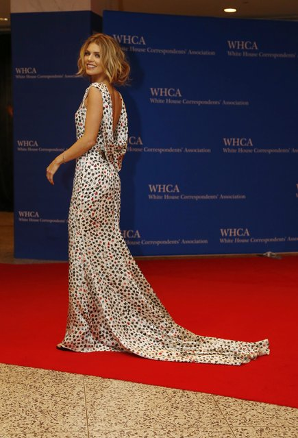 Actress Anna Lynne McCord arrives on the red carpet for the annual White House Correspondents Association Dinner in Washington, U.S., April 30, 2016. (Photo by Jonathan Ernst/Reuters)