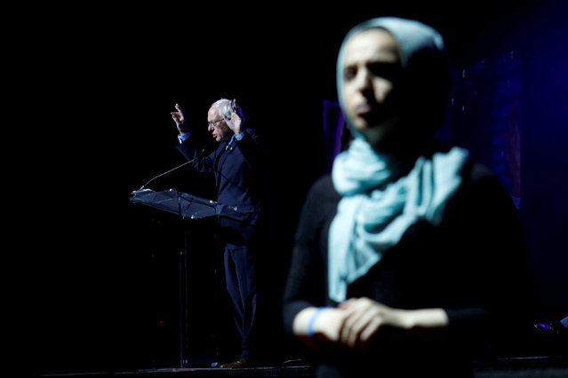 U.S. Democratic presidential candidate Bernie Sanders attends the Islamic Society of North America's Convention in Houston, Texas, U.S. August 31, 2019. (Photo by Daniel Kramer/Reuters)