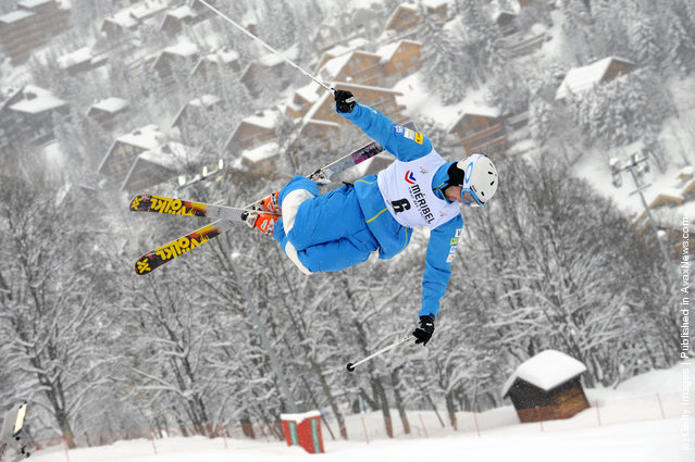 Jeremy Cota of USA  during the FIS Freestyle Ski World Cup Dual Moguls