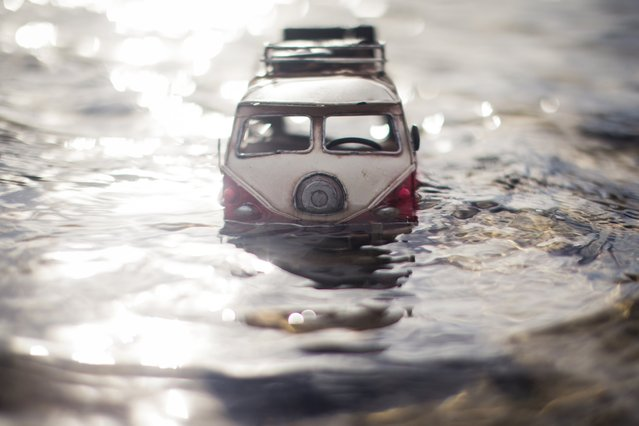 """Reborn"", Red Campervan, Hampstead Heath, London, April, 2014. (Photo by Kim Leuenberger)"