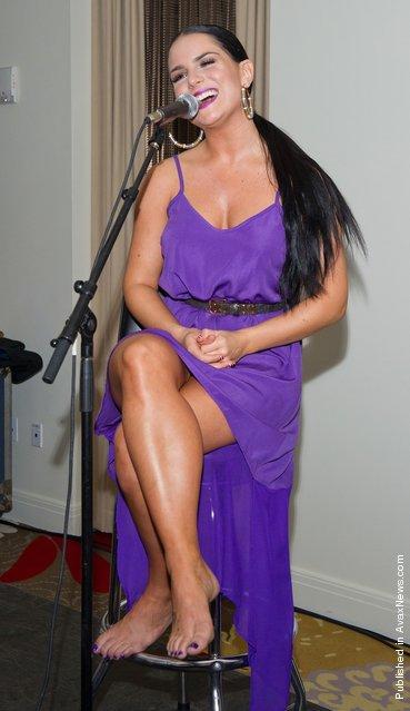Jo Jo performs at the Q102 s*xy Singles 2012 the at Hotel Palomar